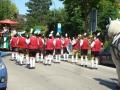 Einzug Siedlerfest Karlsfeld, Aufstellung, gute Figur, auch von hinten