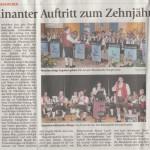 Jubiläum 10 Jahre Amper-Musikanten