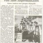 Jubiläum 5 Jahre Amper-Musikanten